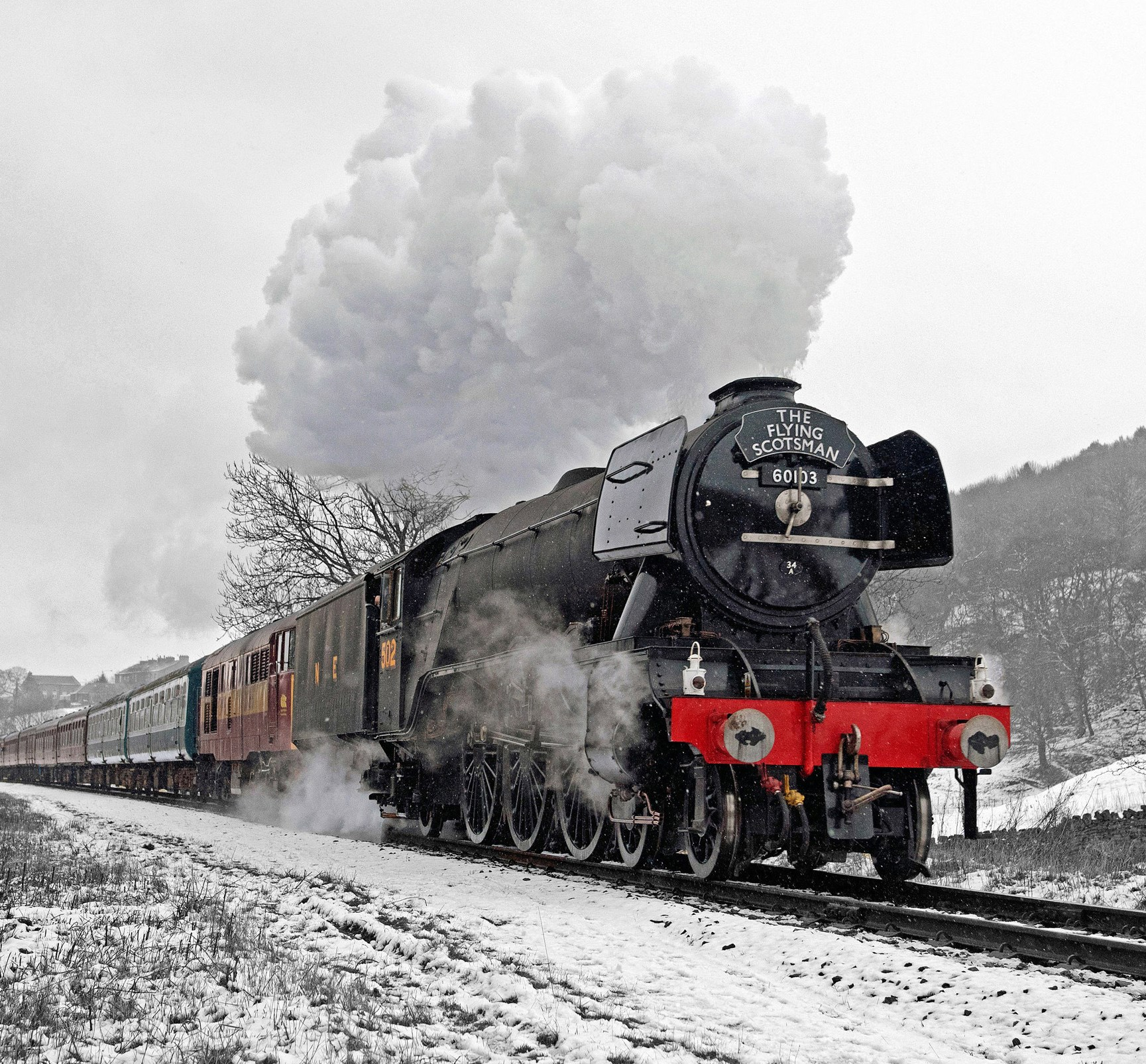 Flying Scotsman Christmas Card